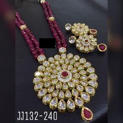 AD and Silver Kundan Necklace