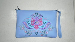 Embroidered Wrist Pouch