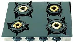 surya Four Burner Glass Gas Stove, regular model, Size: Regular