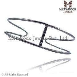 92.5 Sterling Silver Diamond Bracelet