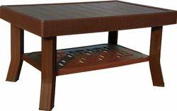 Varmora Plastic Rectangular Brown Coffee Table, Size: 2.5 x 1.5 feet