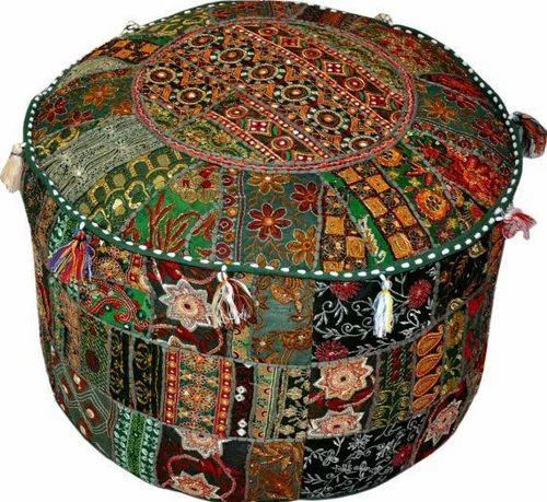 Fabulous Same As A Picture Banjara Bohemian Patch Work Pouf Ottoman Creativecarmelina Interior Chair Design Creativecarmelinacom