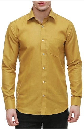 629c4bb0 Nimegh Men's Cotton Gold Color Shirt, Size: 38 To 42, Rs 249 /piece ...