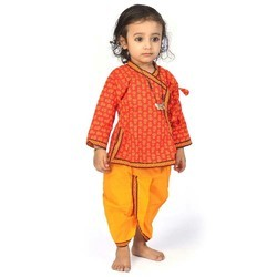 Traditional Girl Dhoti Angrakha Set 201D