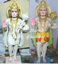 Jaipurcrafts Hanuman Marble Sculpture, Size: 1.5-5 Feet, For Temple And Home