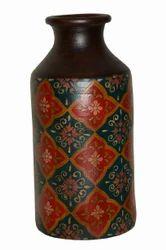 Terracotta Hand Painted Pot - Antique