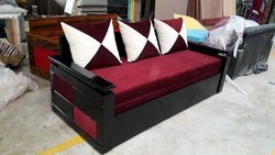 Wooden 3D Sofa Cum Bed