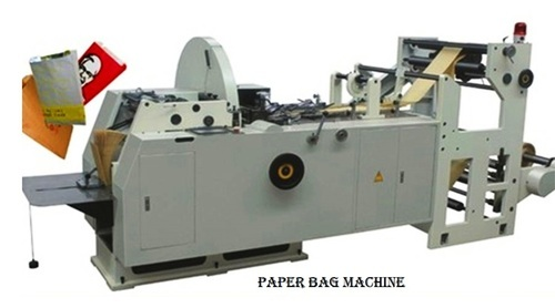 Automatic Online Paper Bags Making Machine, Voltage: 220 V