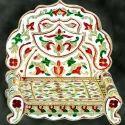 Wooden Meenakari Singhasan