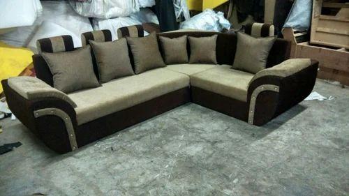 Sofa Set L Shape Bolister Handle Corner Sofa Set Manufacturer From