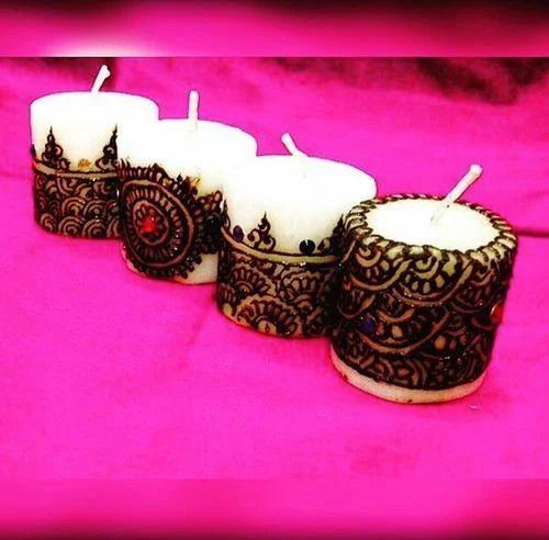 Mobile Home Manufacturer >> Handmade Candles - Henna Decorated Candles Manufacturer from Vadodara