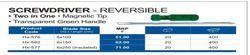 Screw Driver Reversible