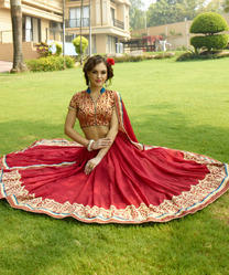 Partywear Lehenga with Border