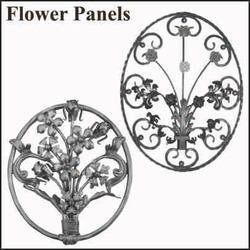 Wrought Iron Flower Panels
