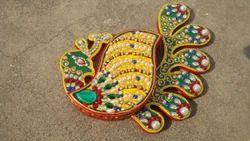 Wooden Peacock Kumkum Box