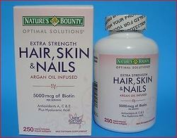 Nature Bounty Hair Skin And Nail -5000 mcg 250 softgel