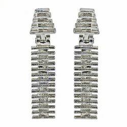 Handmade Unique Designer Plain Stud 925 Silver Earrings
