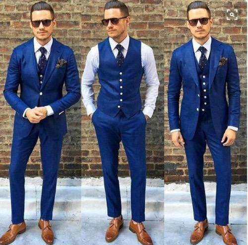 Manufacturer Of Blue Suit Wine Colour By Madaan Tailors Drappers