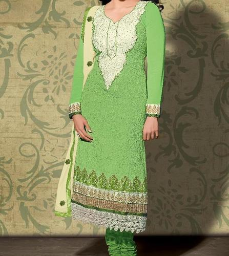 Cotton Embroidered Dress Material Starting Range 400, GSM: 150-200