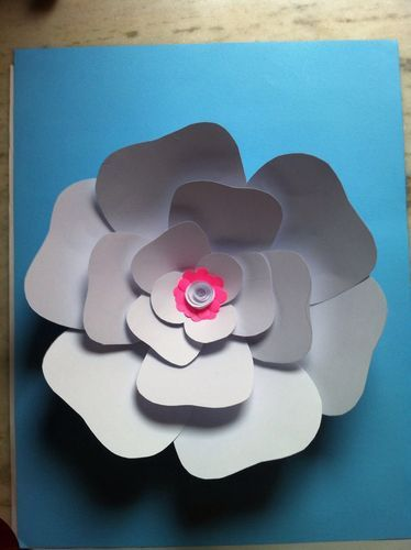 Giant Big Paper Flowers With 300 Gsm Ivory Paper Sheets Kagaz Ke