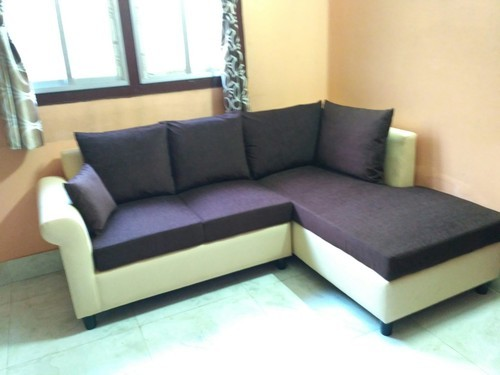 L Shape Brown Leather sofa
