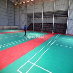Synthetic Flooring For Shuttle Court Badminton Court Flooring Service Provider From Chennai