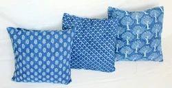 Indigo Printed Cushion Cover