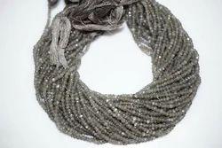 Grey Moonstone Rondelle Beads Strand
