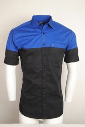 Blue Black Designer Shirt