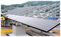 Solar Panel Mounting Structure Fabrication Service