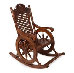 Wood Brown Rocking Chair