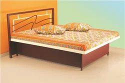 樱桃木白色金属床,为家,尺寸:标准