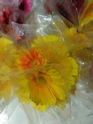 Yellow Gerbera Stick Flower