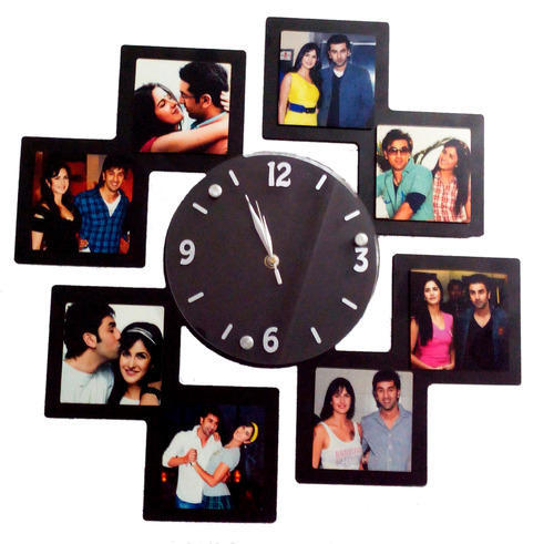 Sublimation Wall Hanging Collage Clock Photo Frame