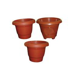 Brown Plastic Flower Pots Size 6 To 20 Inch Sc 1 St India Business Directory - IndiaMART  sc 1 st  startupinsights.org & Pvc Flower Pots \u0026 Exclusive Planter - PVC White Waterproof Pot Sc 1 ...