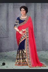 Half- Half Designer Saree