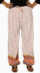 White Cotton Harem Pants