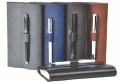 Synthetic PU Leather Business Dairy Note Book Diary and Pen