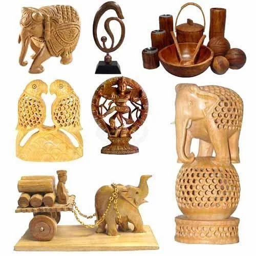 Wooden Handicraft Bamboo And Wooden Handicrafts Rohit Arts In