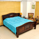 Traditional Embroidered Mirror Work Double Bed Cover