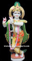 White Painted Krishna Marble Statue, For Worship, Size: 12 To 66 Inch