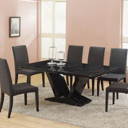 Black Stone Dining Table
