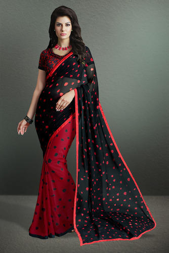 a0a77ea3c7ebe4 Printed Party Wear Georgette Saree at Rs 470  piece