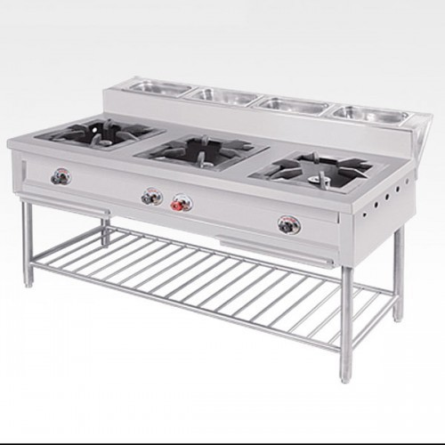 commercial gas range. Delighful Commercial 3 Burner Commercial Gas Range With 2