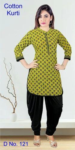 Depends On Availability Casual Jaipuri Cotton Apple Cut Kurti 2fa7a2e2b