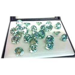 Green Moissanite Gemstone