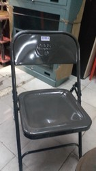 Black Mild Steel Folding Chair, for Event