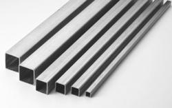 SILVER Stainless Steel Square Pipe, Size: 1 inch, Thickness: 18/16/14/10 Swg