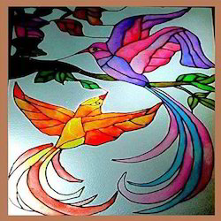 flying birds glass painting at rs 800 square feet glass paintings