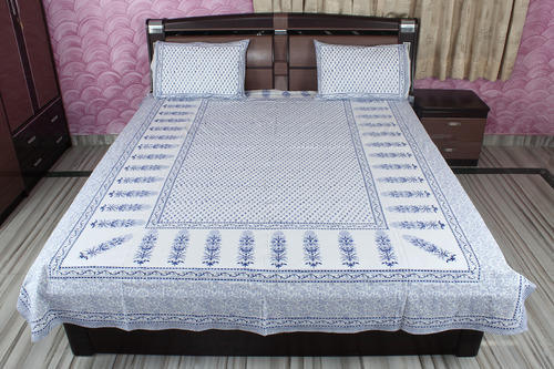 Bed Block Sheet Cotton Hand Printed Indian Print Cover Cut Work Bedspread Beddin
